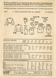 1940s Vintage Advance Sewing Pattern 4448 Womens Scalloped Blouse Size 38 Bust