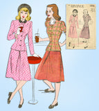 1940s Vintage Advance Sewing Pattern 4635 Charming Misses 2 PC Suit Size 34 Bust - Vintage4me2