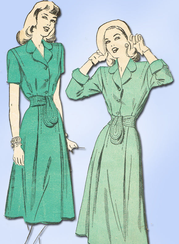 1940s Vintage Advance Sewing Pattern 4709 Misses Dress Pattern Sz 30 B -Vintage4me2