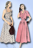 1940s Vintage Advance Sewing Pattern 4904 Misses Sun Dress and Bolero Sz 16 34B - Vintage4me2