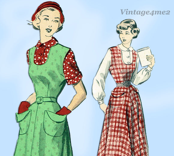 Advance 5266: 1950s Uncut Misses Jumper & Blouse 33 B Vintage Sewing Pattern - Vintage4me2