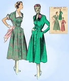 1950s Vintage Advance Sewing Pattern 5572 Stylish Womens Street Dress Sz 38 Bust - Vintage4me2