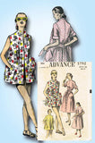 1950s VTG Advance Sewing Pattern 5792 Misses Duster Robe or Beach Cover Up 32 B - Vintage4me2