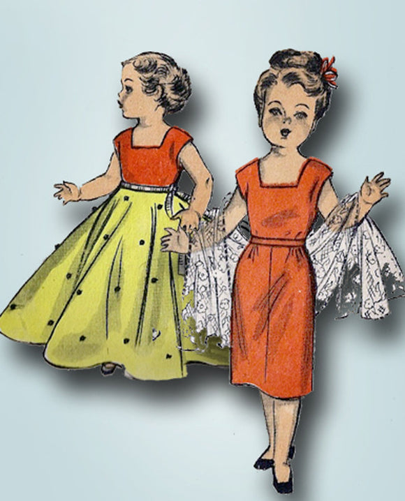 1950s Vintage Advance Sewing Pattern 5957 14 Inch Toni Doll Clothes Set