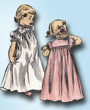 1950s Vintage Advance Sewing Pattern 6259 Uncut Toddler Girl's Nightgown Size 6