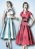 1950s Vintage Misses Dress 1953 Advance VTG Sewing Pattern 6327 Size 14