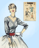 1950s Vintage Advance Sewing Pattern 6505 Sew Easy Misses Blouse Size 32 Bust -Vintage4me2
