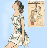 1950s Vintage Advance Sewing Pattern 7878 Uncut Misses Cobbler Apron Size MED