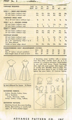 1950s Vintage Advance Sewing Pattern 7937 Misses Dress & Jacket Size 14 32 Bust