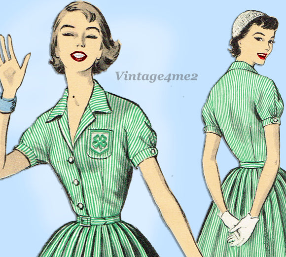 Advance 7947: 1950s Uncut Misses 4-H Uniform Dress Sz 34B Vintage Sewing Pattern - Vintage4me2
