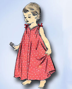 1950s Vintage Advance Sewing Pattern 8157 Uncut Girls Nightgown & Robe Size 8