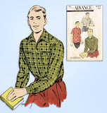 1950s Original Vintage Advance Sewing Pattern 8167 Classic Men's Shirt Sz Small -  Vintage4me2