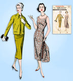 1950s Vintage Advance Sewing Pattern 8639 Uncut Misses Dress & Jacket Sz 32 Bust
