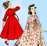 Advance 8844: 1950s Uncut Little Girls Housecoat Size 8 Vintage Sewing Pattern