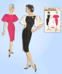 1950s Vintage Advance Sewing Pattern 9079 Uncut Misses Cocktail Dress Sz 34 Bust