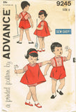 1960s Vintage Advance Sewing Pattern 9245 Baby Boys and Girls Twins Suit Size 2 - Vintage4me2