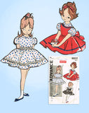 1960s Vintage Advance Sewing Pattern 9502 Easy Baby Girls Dress & Jumper Size 1 - Vintage4me2