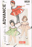 1960s Vintage Advance Sewing Pattern 9531 Easy Baby Girls Shortie Dress Sz 6 mos