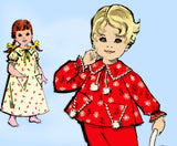 1960s Vintage Advance Sewing Pattern 9606 Toddler Girls Nightgown & Pajamas Size 3
