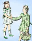 1930s Vintage Advance Sewing Pattern 9737 Little Girls Princess Dress Size 8 - Vintage4me2