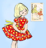 Advance 9871: 1960s Toddlers Girls Cinderella Dress Sz6 Vintage Sewing Pattern