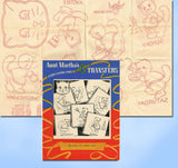 1950s VTG Aunt Martha's Embroidery Transfer 129 Uncut DOW Kitten Towels ORIG