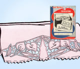 1950s Aunt Martha's Embroidery Transfer 3260 Uncut Cutwork Floral Pillowcases - Vintage4me2