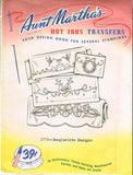 1960s Uncut Aunt Martha's Embroidery Transfer 3770 Flower & Butterfly Bed Linens