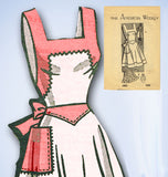 1940s Vintage American Weekly Sewing Pattern 3852 Misses Full Bib Apron 32 34 B