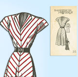 1940s Vintage Mail Order Sewing Pattern 3863 Uncut Misses Bias Cut Dress 34 B