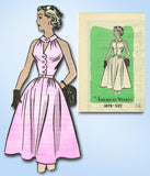 1950s Vintage American Weekly Sewing Pattern 3878 Uncut Cocktail Dress Size 31 B