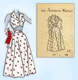 1950s Vintage Mail Order Sewing Pattern 3917 Gorgeous Wrap Around Sun Dress 32 B
