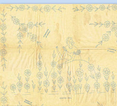 1920s VTG Betty Burton Embroidery Transfer 11 Uncut Garden Gal Bolster Motif - Vintage4me2