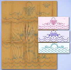 1920s Betty Burton Redwork Pillowcases Uncut Hot Iron Embroidery Transfer 1607 - Vintage4me2