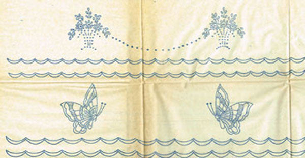 1930s Beautiful Pillowcases Uncut Betty Burton Embroidery Transfer 1630 - Vintage4me2
