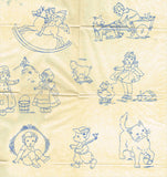 1930s Betty Burton Hot Iron Embroidery Transfer 1944 Uncut Darlin Nursery Motifs - Vintage4me2