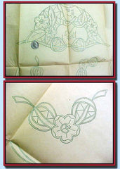 "1930s Betty Burton Embroidery Transfer Uncut Cutwork Garden Gal Pillowcases ""C"" - Vintage4me2"