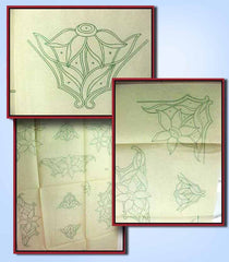 1930s Vintage Betty Burton Embroidery Transfer Uncut Cutwork Pillowcase Motifs D - Vintage4me2