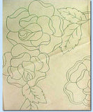 "1940s Betty Burton Embroidery Transfer ""E"" Rose Pillowcase Motifs Uncut ORIG - Vintage4me2"