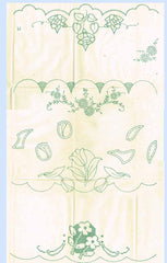 "1930s Vintage Betty Burton Embroidery Transfer Uncut Tulip Pillowcase Motifs ""M"" - Vintage4me2"