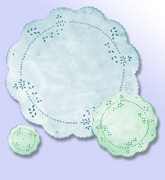 1910s Vintage Butterick Embroidery Transfer 10560 Uncut Luncheon Tray Doillies