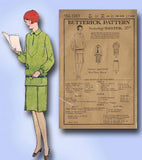 1920s Vintage Butterick Sewing Pattern 1243 Uncut Girls Flapper Dress Size 10 - Vintage4me2