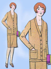 1920s Vintage Butterick Sewing Pattern 1293 Uncut Girls Flapper Dress Sz 12 29B - Vintage4me2