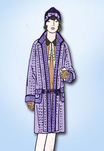 1920s Vintage Girls Flapper Coat Butterick VTG Sewing Pattern 1395 Size 12 - Vintage4me2