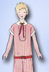 1920s Vintage Butterick Sewing Pattern 1414 Uncut Girl's Flapper Dress Size 10 - Vintage4me2