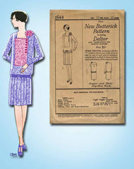 1920s Vintage Butterick Sewing Pattern 1544 Uncut Girls Party Dress w Flower 29B - Vintage4me2