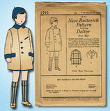 1920s Vintage Butterick Sewing Pattern 1592 Uncut Baby Boys Over Coat Size 4 - Vintage4me2