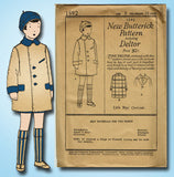1920s Vintage Butterick Sewing Pattern 1592 Uncut Toddler Boys Over Coat Size 6 - Vintage4me2