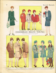 1920s Original Vintage Butterick Pattern 1609 Toddler Girls Raglan Coat Size 4