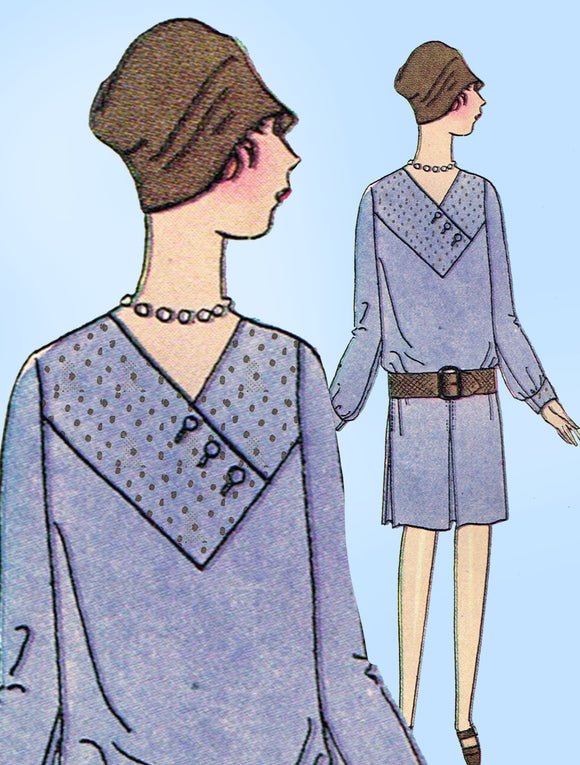 Butterick 1915: 1920s Little Girls Flapper Dress Size 10 Vintage Sewing Pattern - Vintage4me2